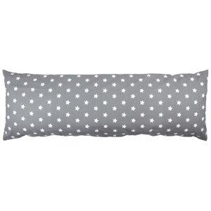 4Home obliečka na Relaxačný vankúš Náhradný manžel Stars sivá, 50 x 150 cm, 50 x 150 cm