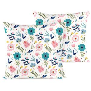 4home Obliečka na vankúšik Flowers krep, 40 x 40 cm
