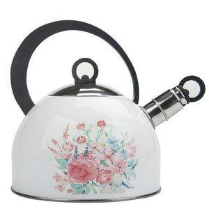 Altom Čajník nerezový Pastelový kvet 2,5 l