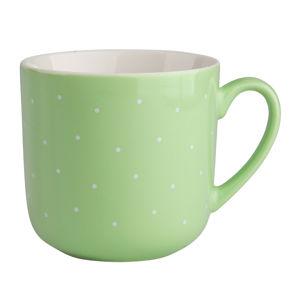 Altom Sada porcelánových hrnčekov Bodka 300 ml, 6 ks, zelená