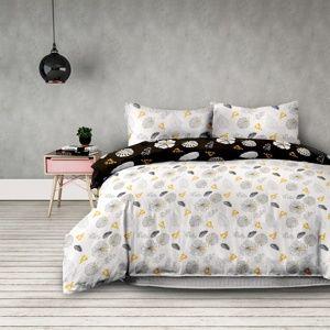 AmeliaHome Flanelové obliečky Floral rain, 200 x 220 cm, 2 ks 70 x 90 cm