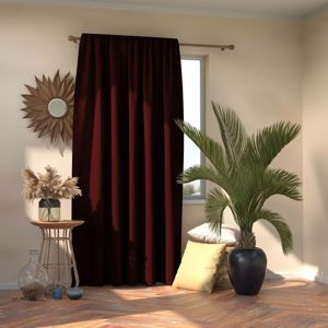 AmeliaHome Záves Blackout Oxford Pleat burgundy, 140 x 245 cm