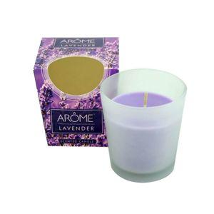 Arome Kónická vonná sviečka v skle Lavender, 100 g
