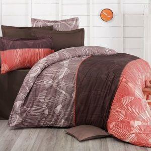 Kvalitex Bavlnené obliečky Delux Stripe lososová new, 200 x 200 cm, 2 ks 70 x 90 cm