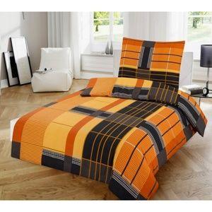 Jahu Bavlnené obliečky Orange, 140 x 200 cm, 70 x 90 cm