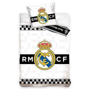 Carbotex Bavlnené obliečky Real Madrid Thin Chessboard, 140 x 200 cm, 70 x 90 cm