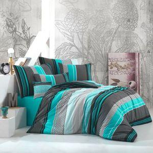 BedTex Bavlnené obliečky Zigo tyrkysová, 220 x 200 cm, 2 ks 70 x 90 cm