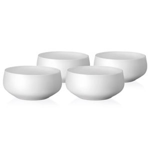 Crystalex 4-dielna sada misiek Mini Bowls White, 95 ml