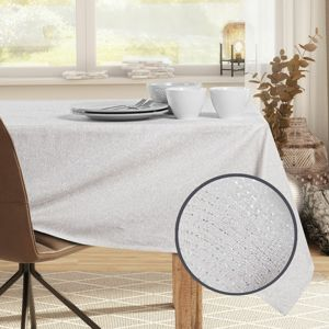 DecoKing Obrus Sparkle cream, 110 x 110 cm