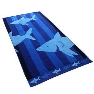 DecoKing Plážová osuška Sharky, 90 x 180 cm