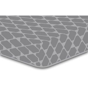 DecoKing Prestieradlo Rhombuses sivá S2, 160 x 200 cm