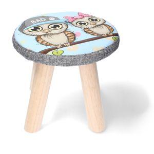 Detská stolička Sova, 28 x 28 x 28 cm