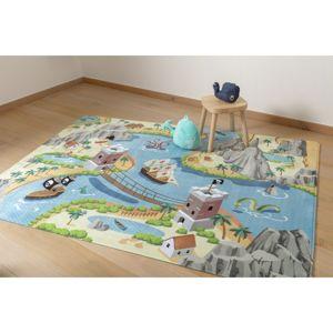 Vopi Detský koberec Ultra Soft Tresure Island, 90 x 130 cm