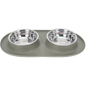 Dvojitá miska pre psa Bowl, sivá