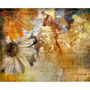 AG Art Fototapeta XXL Kvetinová maľba 360 x 270 cm, 4 diely