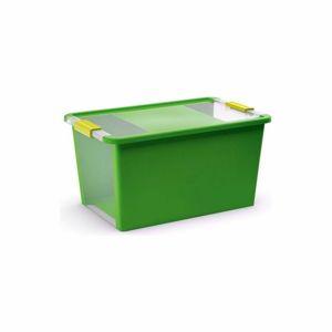 KIS Úložný Bi box S, 11 litrů průhledná/zelená barva