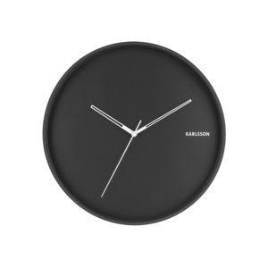 Karlsson  5807BK Dizajnové nástenné hodiny pr. 40 cm