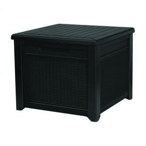 Keter Záhradný úložný box Cube Rattan sivá, 208 l