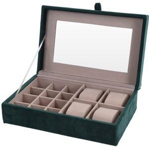 Koopman Šperkovnica so zrkadlom Beautify, zelená