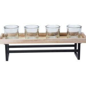 Koopman Svietnik na čajové sviečky Beaming, 37,5 x 9,5 x 2 cm
