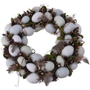 Koopman Veľkonočný veniec s vajíčkami biela, pr. 34 cm