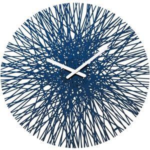 Koziol Nástenné hodiny Silk modrá, pr. 45 cm
