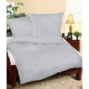 Bellatex Krepové obliečky sivá, 240 x 200 cm, 2 ks 70 x 90 cm