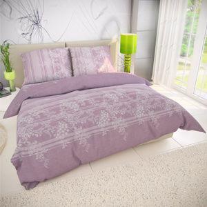 Kvalitex Bavlnené obliečky Bova fialová, 220 x 200 cm, 2 ks 70 x 90 cm