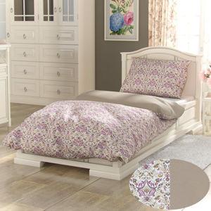 Kvalitex Bavlnené obliečky Provence Narista béžová, 140 x 220 cm, 70 x 90 cm