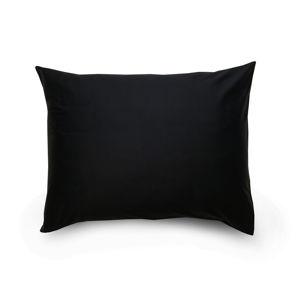 Kvalitex Obliečka na vankúš satén čierna / svetlo fialová, 70 x 90 cm