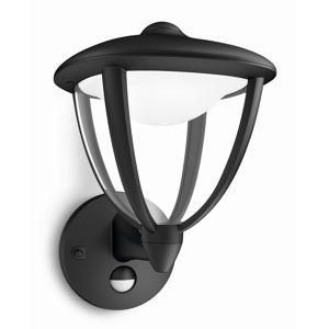 Philips 15479/30/16 Robin Vonkajšie nástenné LED svietidlo 26 cm, čierna