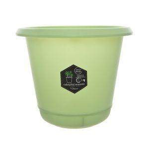 Plastový kvetináč Pastels zelená, 14 cm