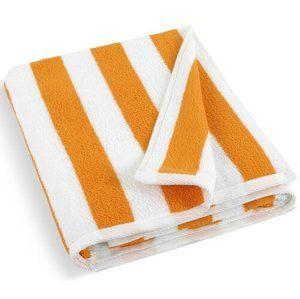 Bellatex Plážová osuška 163/149 bielo-oranžová