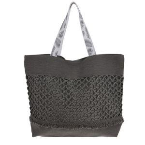 Plážová taška Croche, sivá