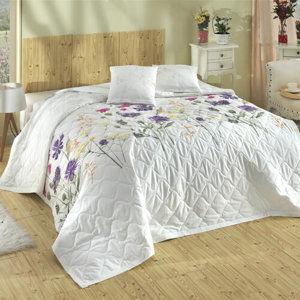 Bedtex Prehoz Nergiz lila, 220 x 240 cm, 2x 40 x 40 cm