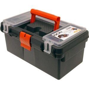 Prenosný box na náradie čierna, 36 x 21 x 16,5 cm