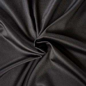 Kvalitex prestieradlo satén čierne, 100 x 200 cm