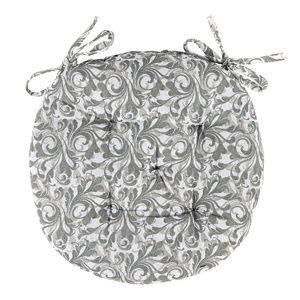 Trade Concept Sedák Grey Flower prešívaný okrúhly, 40 cm