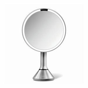 Simplehuman Kozmetické zrkadlo Sensor Touch, LED osvetlenie, 5x, dobíjacie, matná nerez