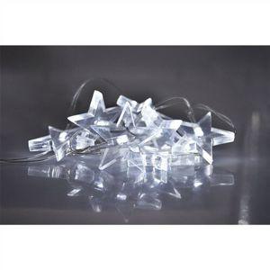 Solight Svetelná LED reťaz s 10 hviezdami, 1,5 m, biela