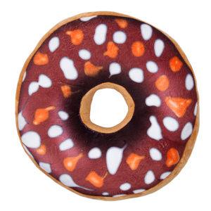 Jahu Tvarovaný vankúšik Donut hnedá, 38 cm
