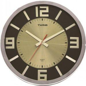 Twist wenge wood 2361 nástenné hodiny,
