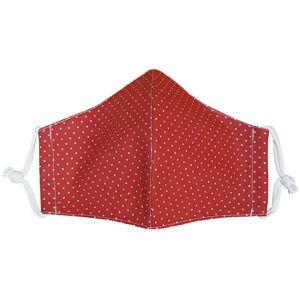 Ústne bavlnené rúško Bodky mini červená medium