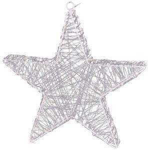 Vianočná hviezda Rapallo strieborná, 50 LED