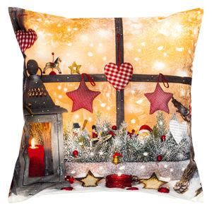 Forbyt Vianočná obliečka na vankúšik Lampáš, 40 x 40 cm
