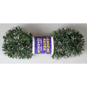 Vianočná reťaz Chunky zeleno-strieborná, 500 cm