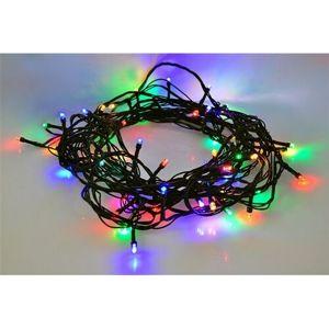 Vianočná reťaz Solight 60 LED 10m 1V01-M farebná