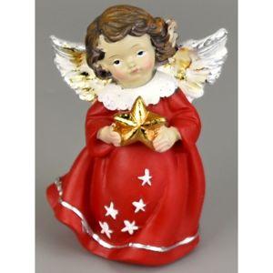 Vianočný anjelik s hviezdou, 10 cm