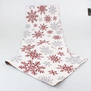 Dakls Vianočný behúň Vločka červená, 32 x 140 cm