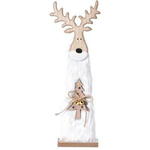Vianočný drevený Sob Ervín biela, 40 cm, 40 cm